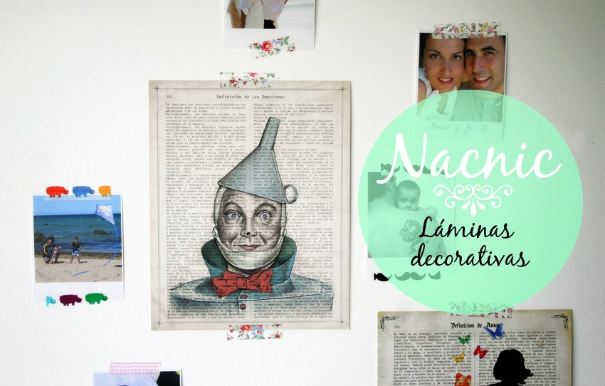 Láminas decorativas Nacnic + fotos + washi-tape