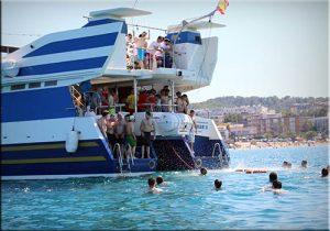 despedida en barco en Salou